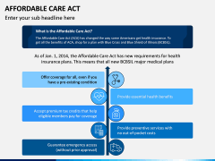 Affordable Care Act PPT Slide 1