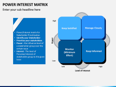 Power Interest Matrix PPT Slide 1