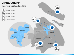 Shanghai Map PPT Slide 6