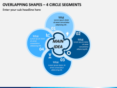 Overlapping Shapes – 4 Circle Segments PPT Slide 1