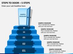 Steps To Door – 5 Steps PPT Slide 1