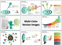 Target darts multicolor combined