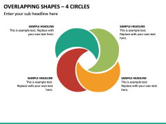 Overlapping Shapes – 4 Circles PPT Slide 2