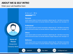 About Me / Self Intro PPT Slide 5