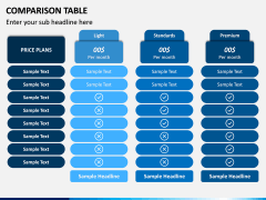 Comparison Tables PPT slide 7