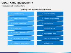 Quality and Productivity PPT Slide 6