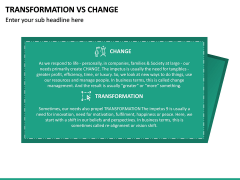 Transformation Vs Change PPT Slide 10