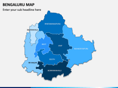 Bengaluru Map PPT Slide 1