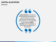 Capital Allocation PPT Slide 1