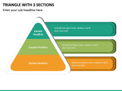 Triangle with 3 Sections PPT slide 2