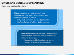 Single and Double Loop Learning PPT Slide 4