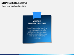 Strategic Objectives PPT Slide 1