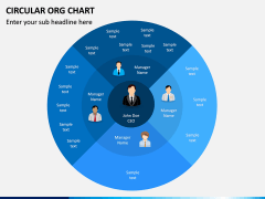 Circular ORG Chart PPT Slide 1
