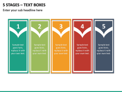 5 Stages – Text Boxes PPT slide 2