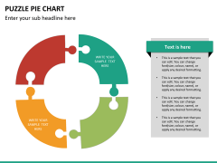 Puzzle pie chart PPT slide 19