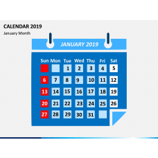 Calendar 2019 - Type 2 PPT Slide 1