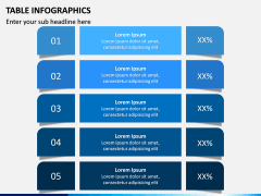 Table Infographics PPT Slide 1