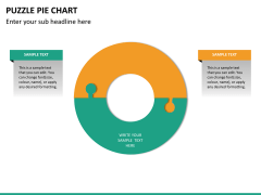 Puzzle pie chart PPT slide 26