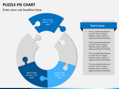Puzzle pie chart PPT slide 11