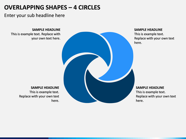 Overlapping Shapes – 4 Circles PPT Slide 1