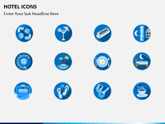 Hotel icons PPT slide 4