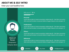 About Me / Self Intro PPT Slide 21