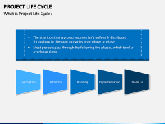 Project life cycle PPT slide 1