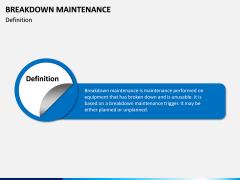 Breakdown Maintenance PPT Slide 1