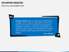 Situation Analysis PPT slide 2