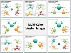 Bubbles cluster diagram PPT slide MC Combined
