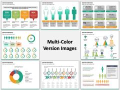 Visitor Statistics Multicolor Combined