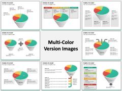 Funnel pie chart PPT slide MC Combined
