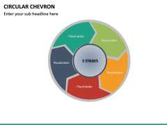 Circular Chevron PPT Slide 19