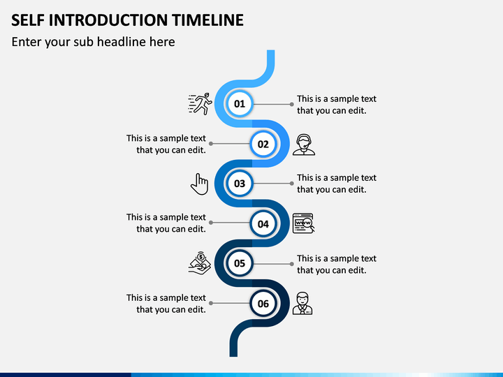 Self Introduction Timeline PowerPoint Template  SketchBubble