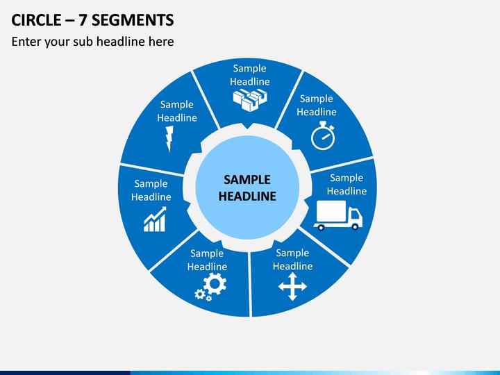 Circle – 7 Segments PPT Slide 1