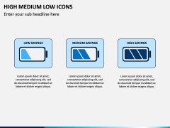 High Medium Low Icons PPT Slide 5