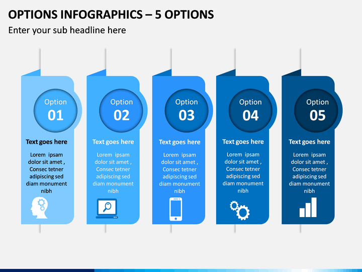Options Infographics – 5 Options PPT Slide 1