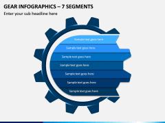 Gear Infographics – 7 Segments PPT slide 1