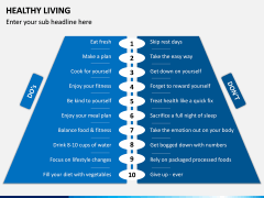 Healthy Living PPT Slide 13