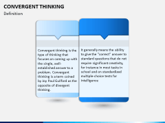 Convergent thinking PPT slide 2