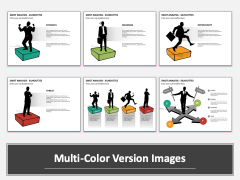SWOT analysis with silhouettes Multicolor Combined