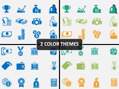 Cash Cost Icons PPT Cover Slide