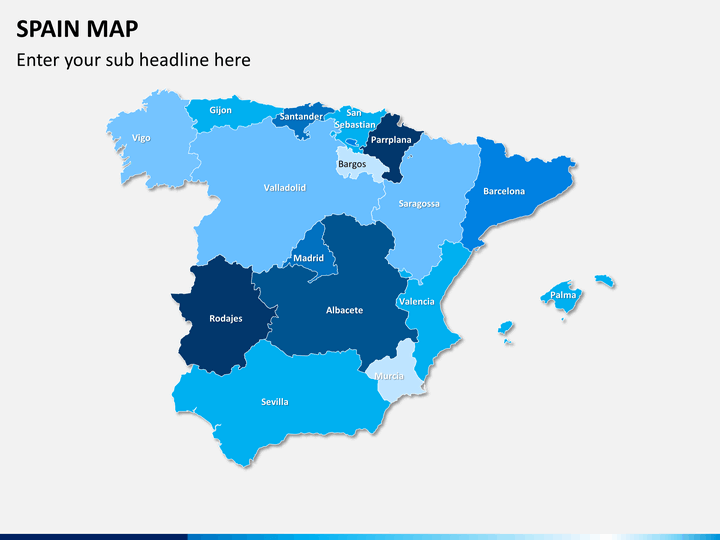 Spain map PPT slide 1
