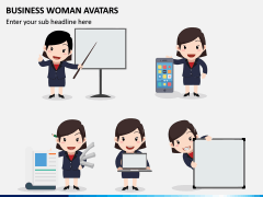 Business Woman Avatars PPT Slide 5