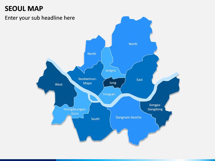 Seoul Map PPT Slide 1