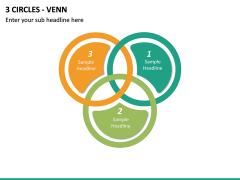 3 Circles - Venn PPT slide 2