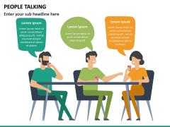 People Talking PPT Slide 9