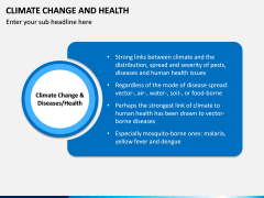 Climate Change and Health PPT Slide 1