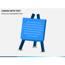 Canvas with Text PPT Slide 1