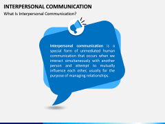 Interpersonal Communication PPT Slide 1